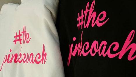 the pink coach: vinyl heat transfer